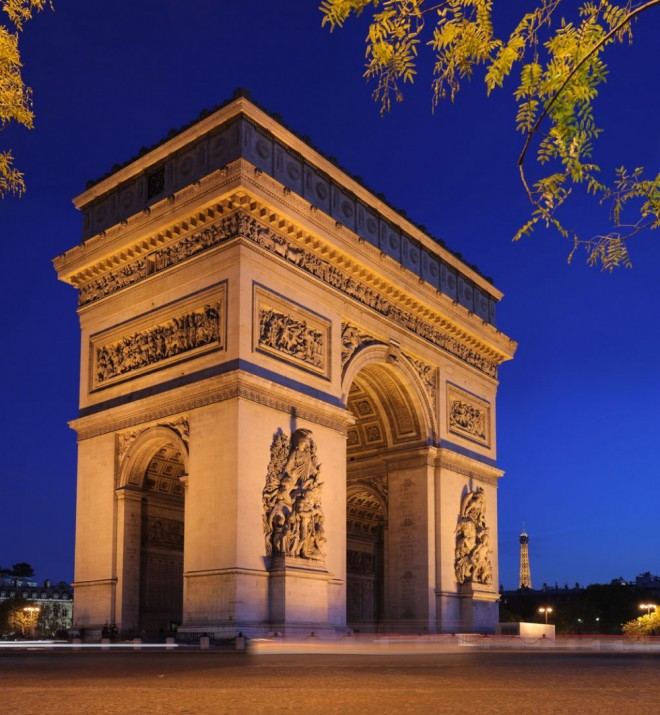 places to visit in paris arc de triomphe