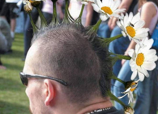 funny hairstyles flower