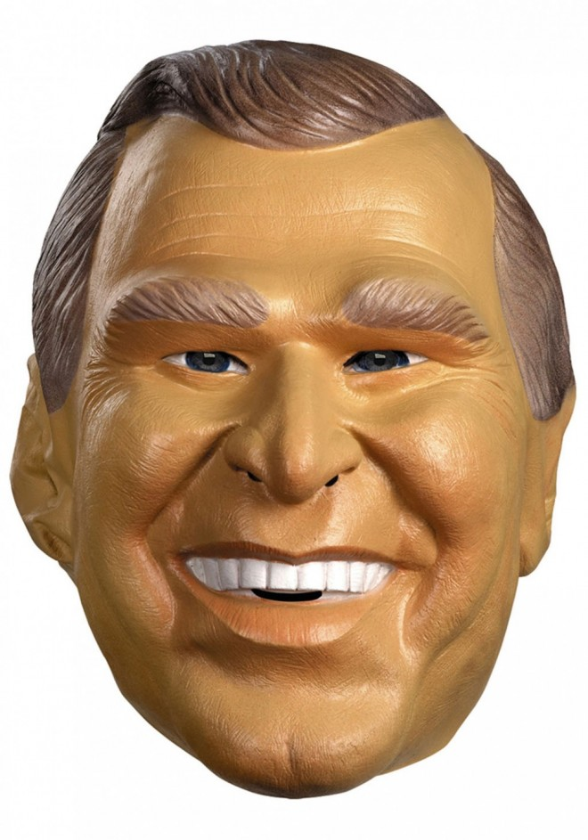 funny mask george bush
