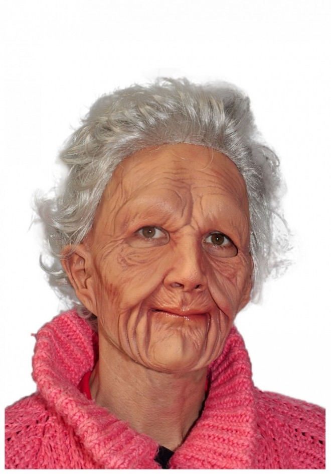 funny mask old woman