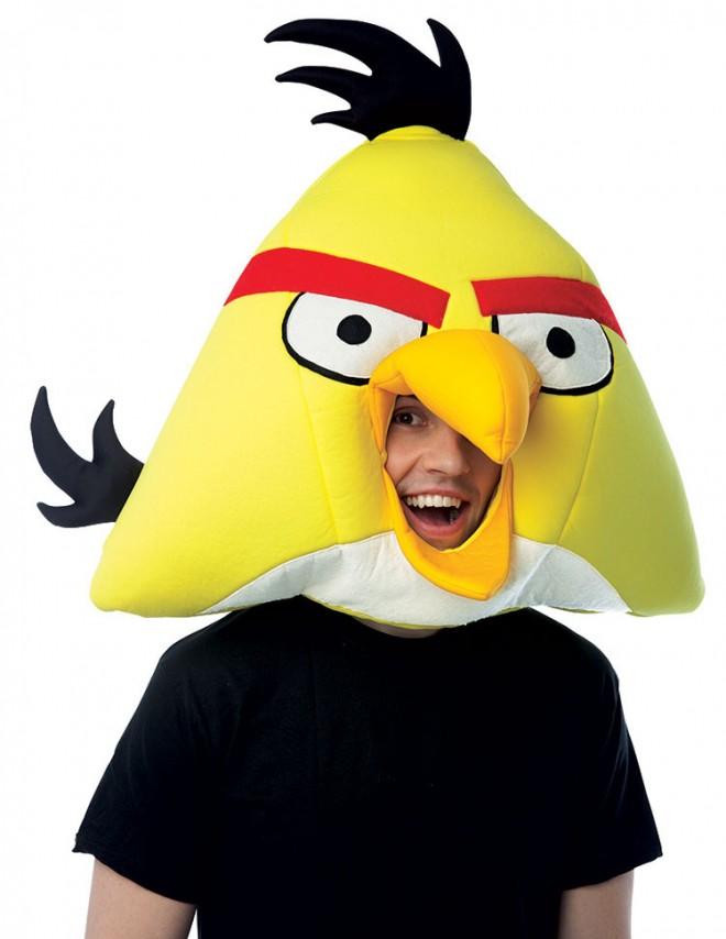 funny mask yellow angry bird