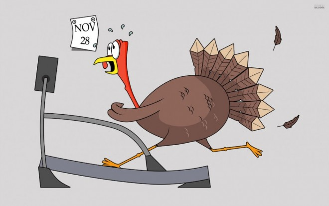 funny thanksgiving pictures turkey treadmill