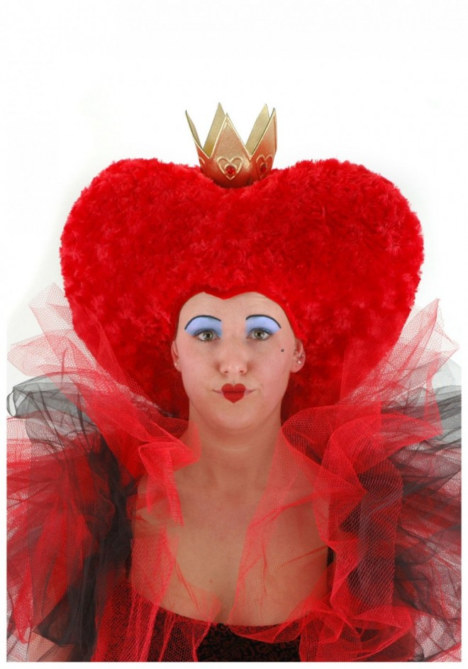 funny wigs queen of heart