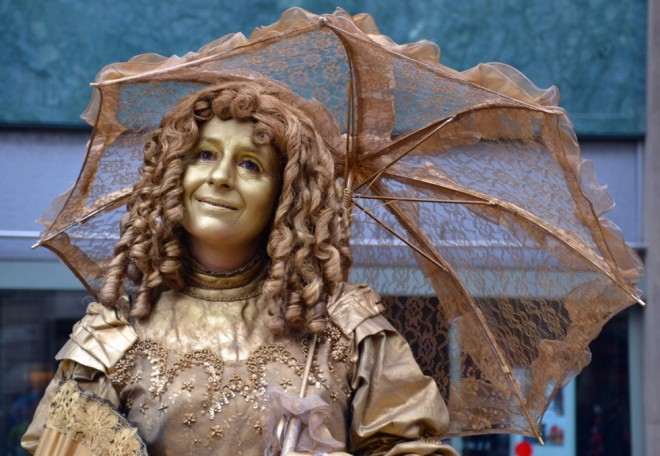 living statues of pretty woman