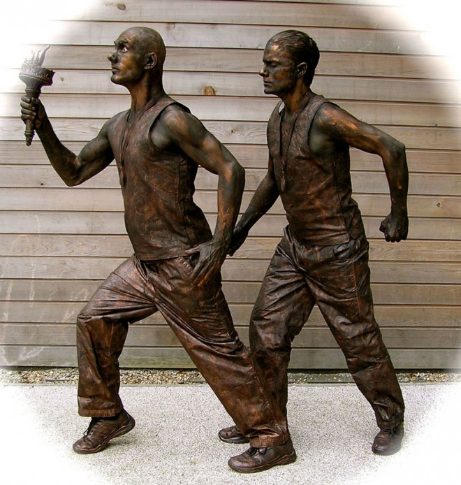 living statues olympic