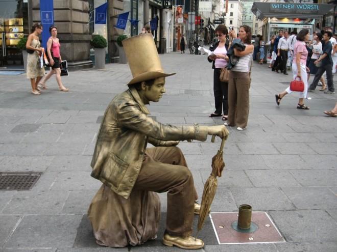 living statues vienna