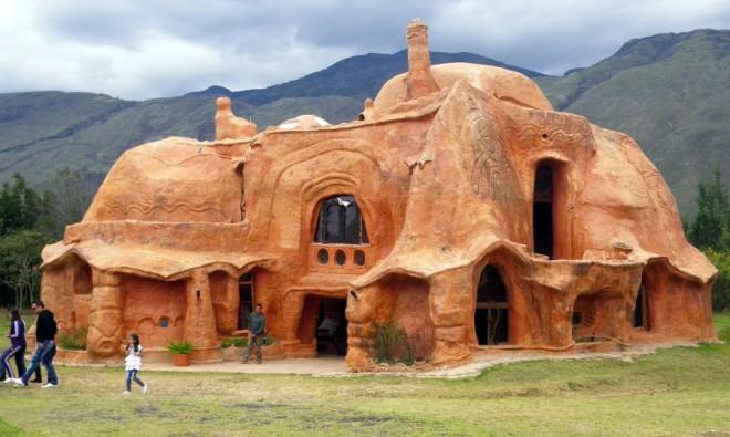 weird houses ceramic house