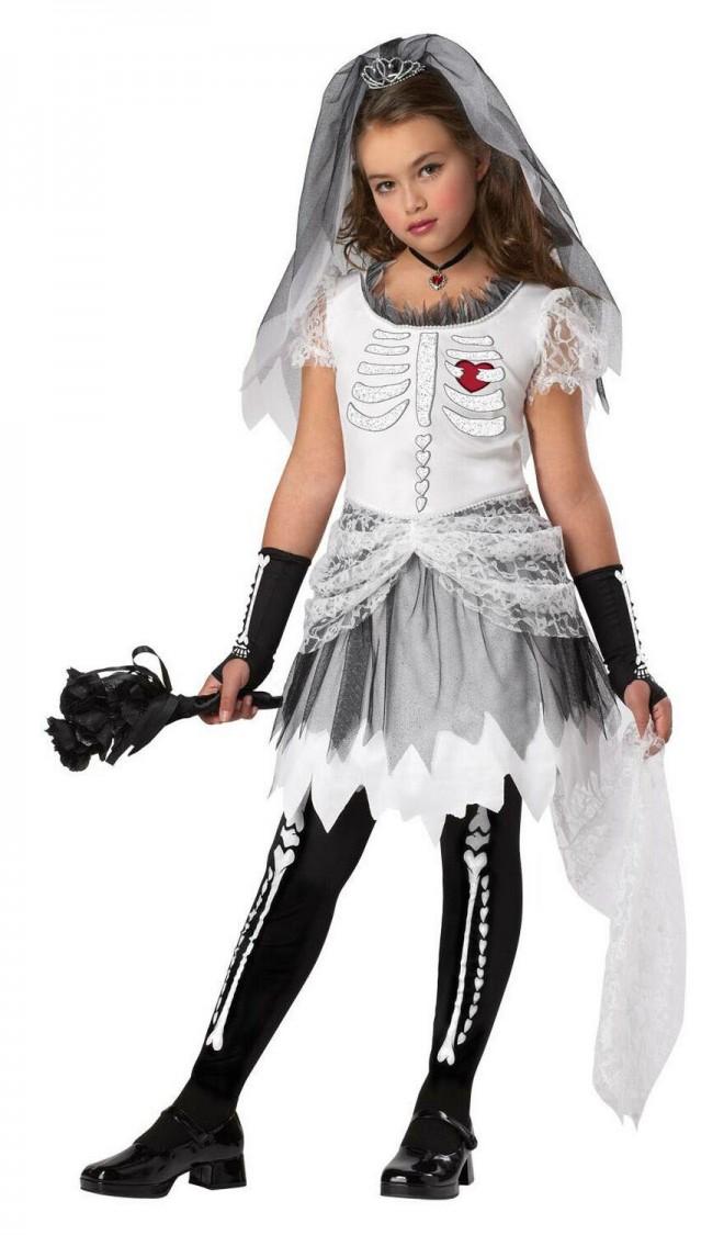 funny halloween costumes skeleton bride