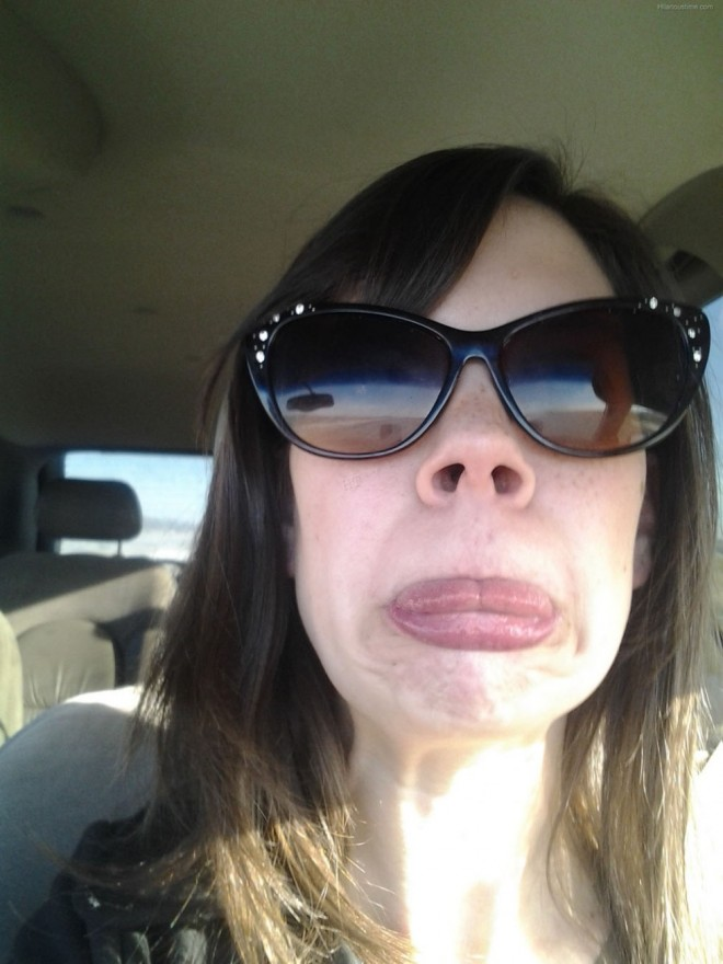 weird faces lips