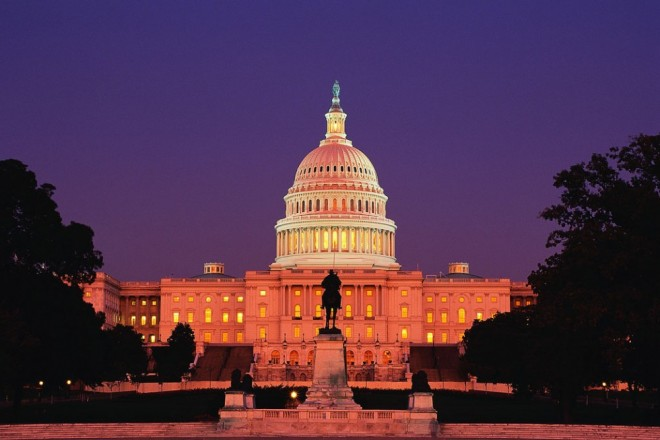 most beautiful places in america capitol at night