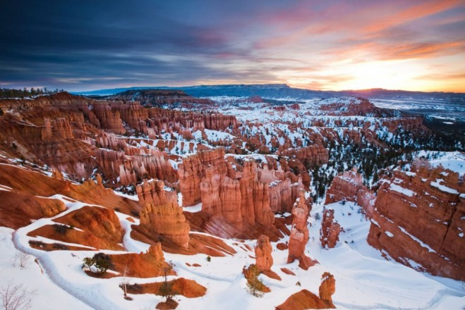 most beautiful places in america sunset on bryce canyon