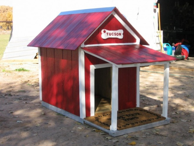 dog house plans red