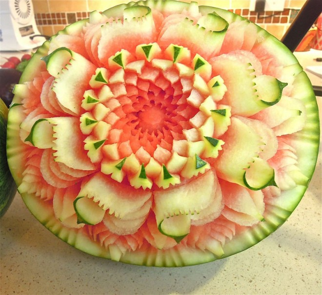 fruit art intricate melon