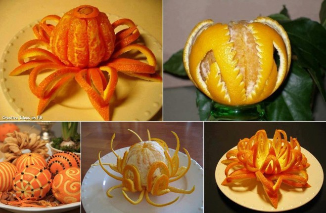 fruit art orange