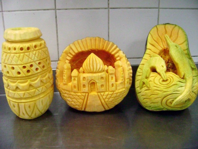 fruit art tajmahal