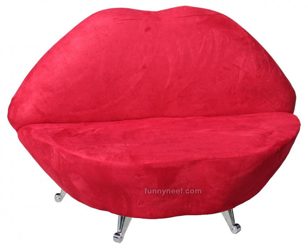 funky furniture lip chair