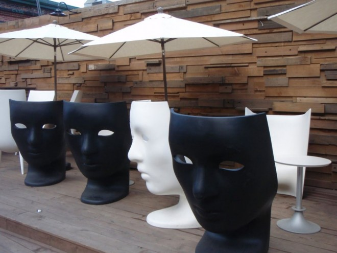 funky furniture mask chair