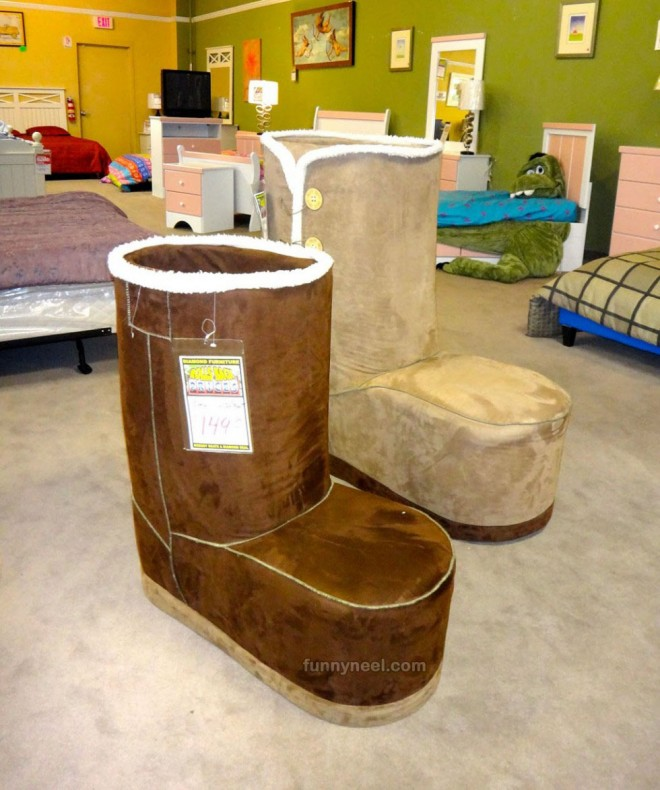 funky furniture shoe chair