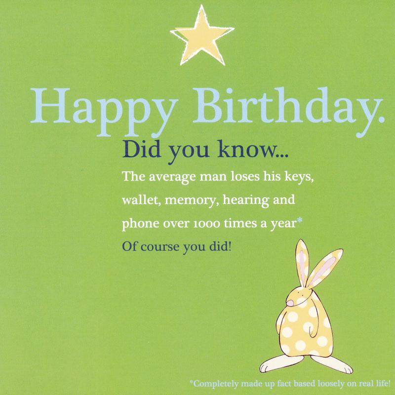 funny birthday wishes bunny