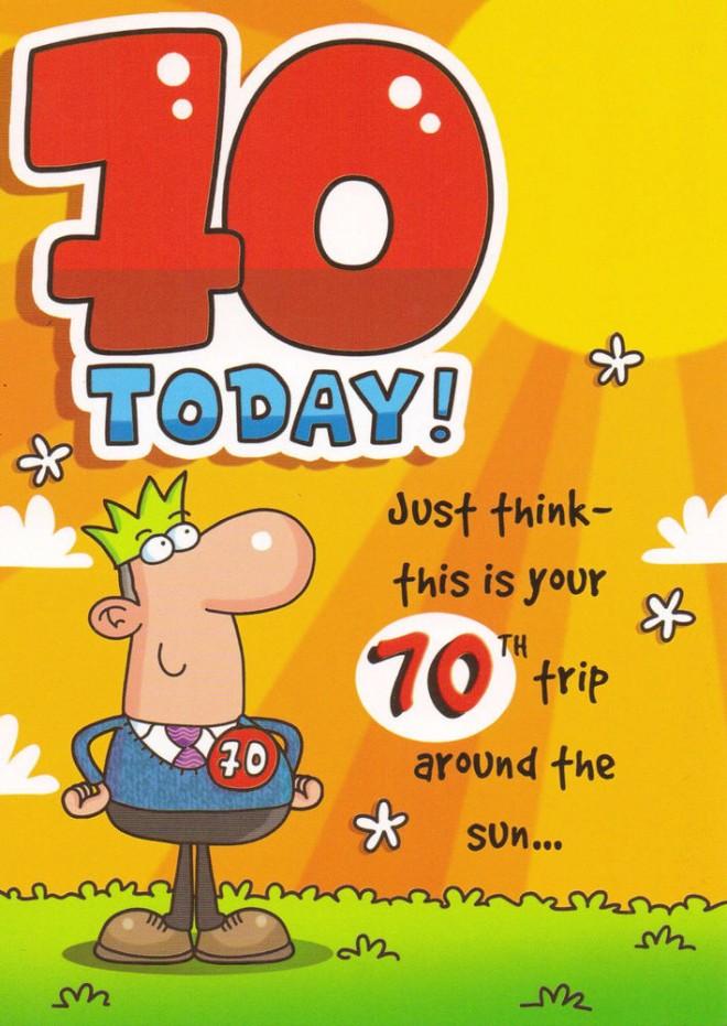 funny birthday wishes seventy