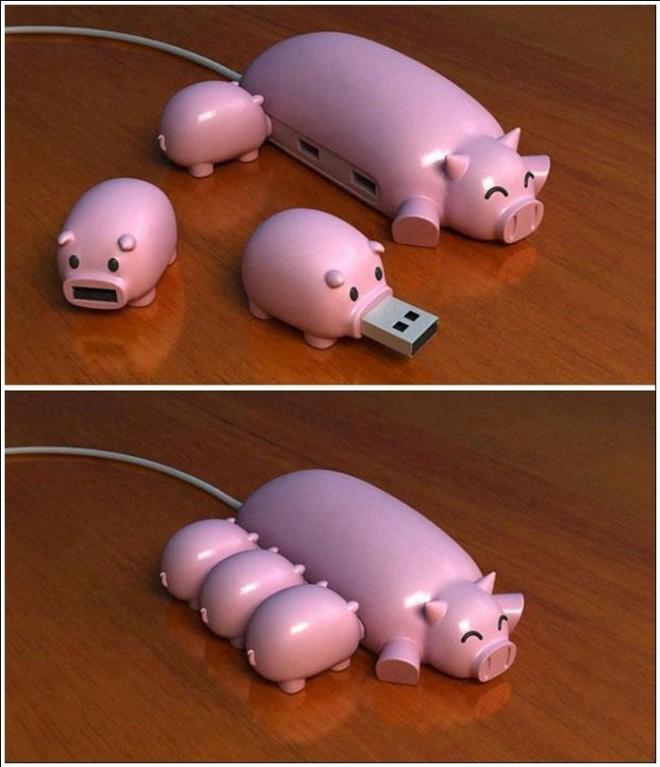 funny gadgets pig usb