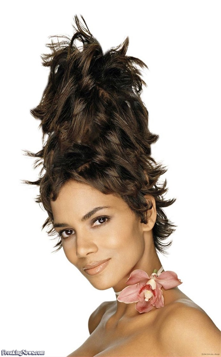 funny hairstyles girl