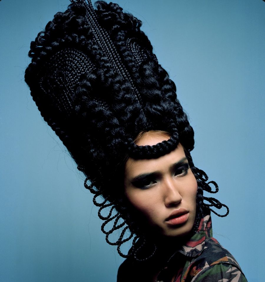 funny hairstyles sculptures