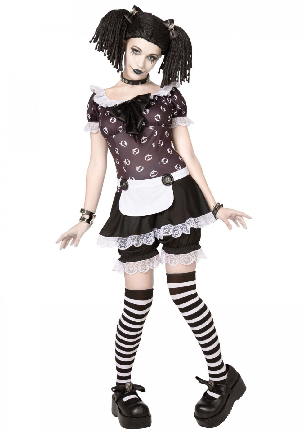 funny halloween costumes gothic rag doll