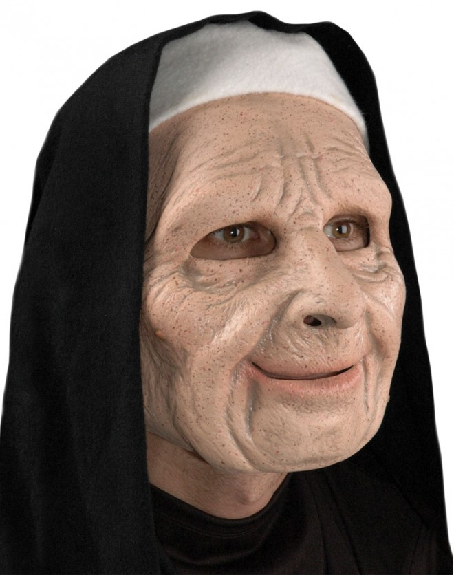 funny mask town nun
