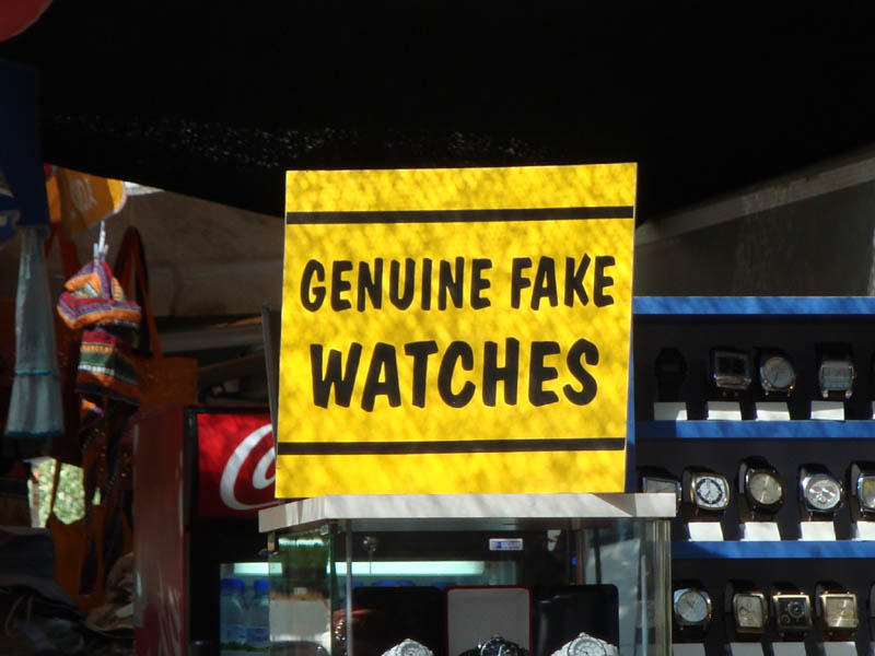 funny signs fake watch