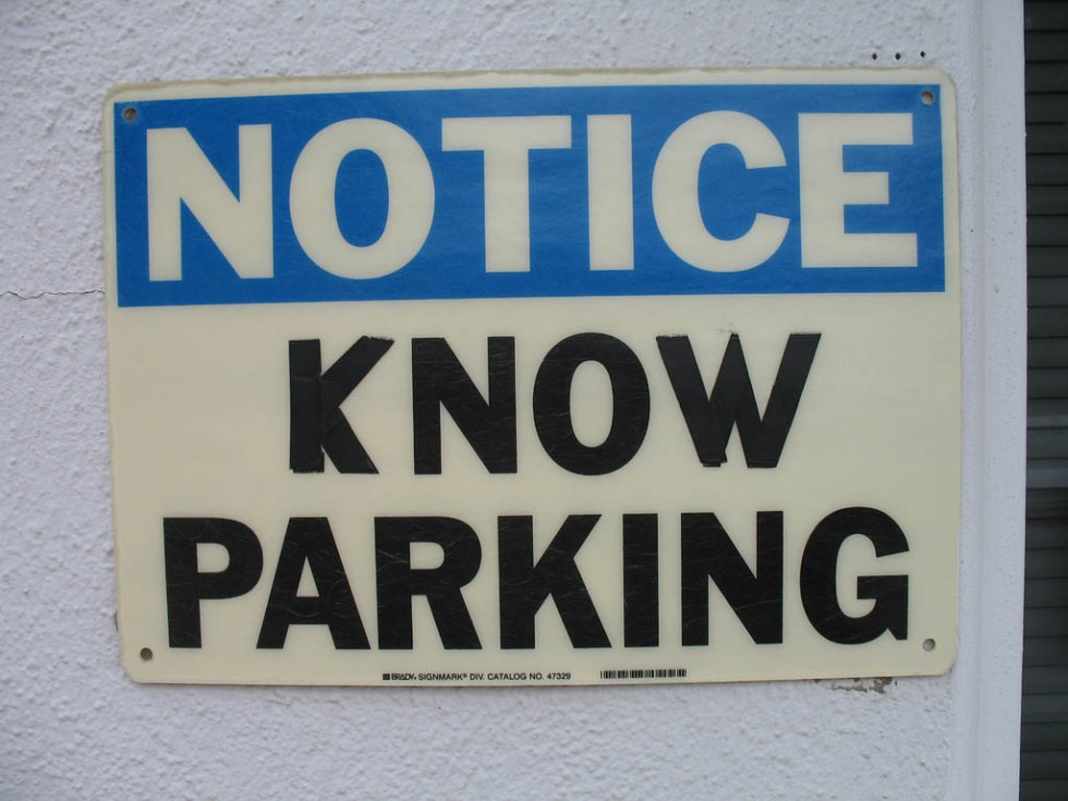 funny signs parking