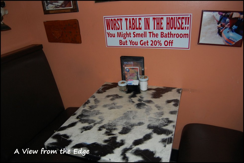 funny signs worst table