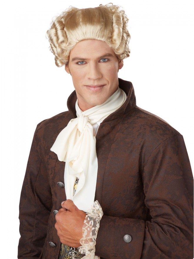funny wigs 18th century blonde