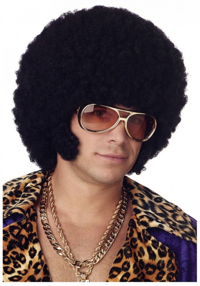 funny wigs afro chops