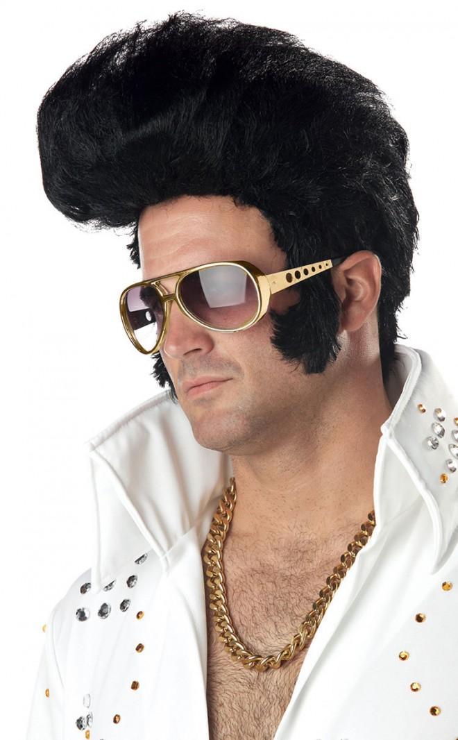 funny wigs black rock n roll