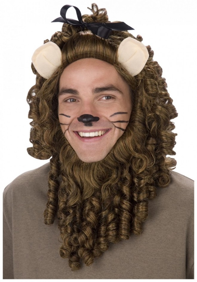 funny wigs lion
