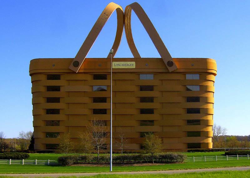weird houses basket building