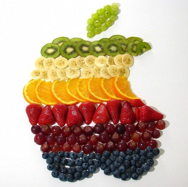 fruit art apple