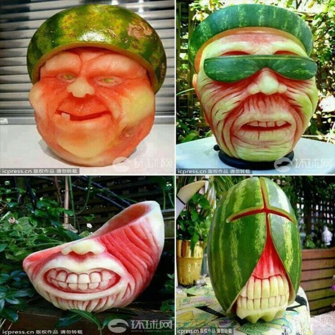 fruit art faces