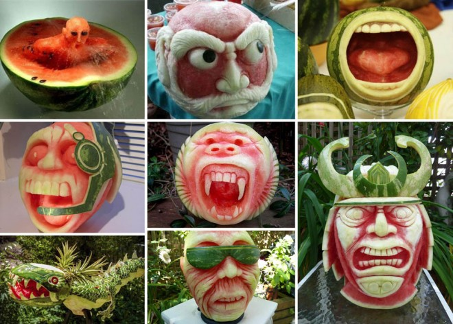 fruit art watermelon