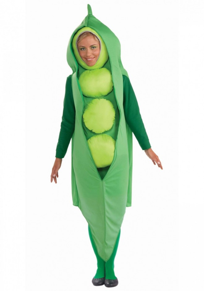 funny costumes peas