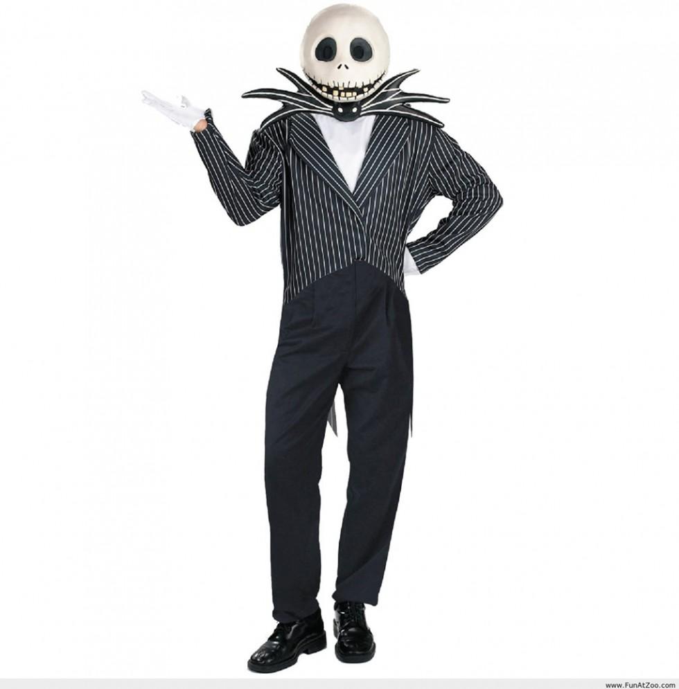 funny halloween costumes skeleton head
