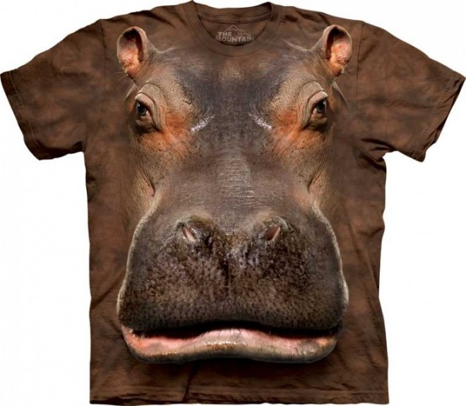 funny t shirts hippo