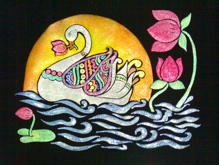 lotus duck rangoli