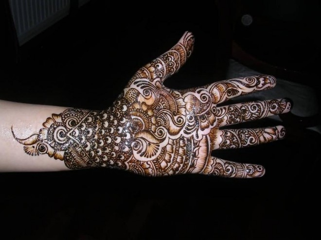 mehndi designs peacock