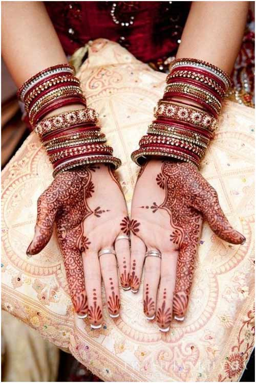 mehndi designs red