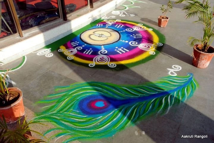 rangoli designs peacock