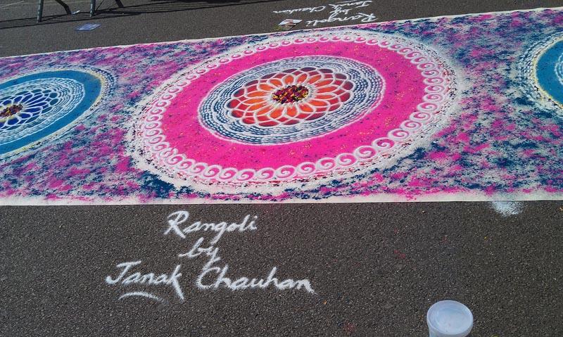 rangoli designs pink
