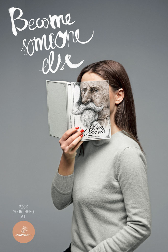 face with books