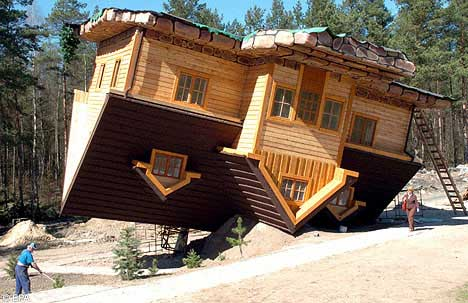 upside down house building unusual funny best creative brilliant